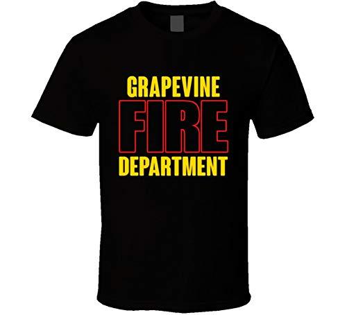 Grapevine Fire Department Personalized City T Shirt S Black
