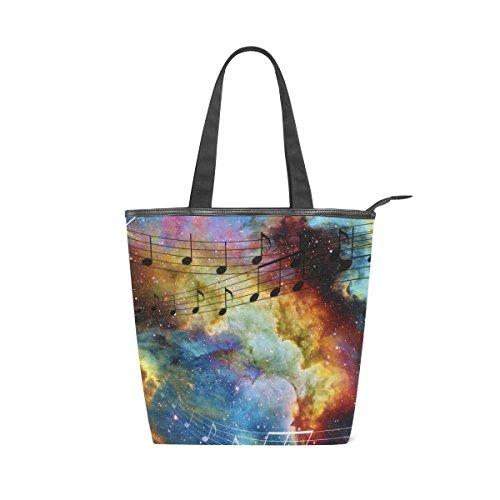 La Musical De Y Lona Hombro Galaxy De Mydaily Bolso Mujer Nota Bolsas Espacio SxaqnHXPw