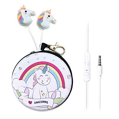 QearFun Unicorn In Ear Earphones Children 3.5 mm 3D Cute Cartoon Animal Horse...