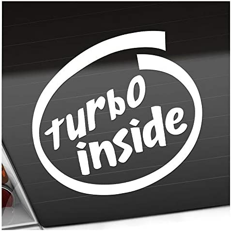 Turbo Inside 11 X 10 Cm In 15 Farben Neon Chrom Sticker Aufkleber Auto