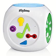 Playbees Baby Sound Machine & Projector Night Light, Sound Activated Star and Shape Projection with Soothing Nature Music and Classic Lullabies