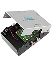 Pro2 PA005 Inline Phono PreAmp for Turntable Runs 9v Battery or Optional Power Pack
