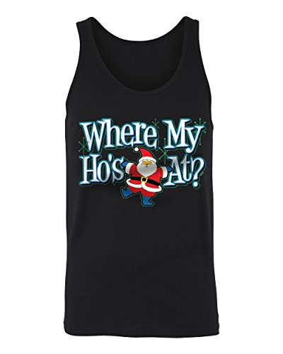 SpiritForged Apparel Where My Hos at Junior's Tank Top, Black ()