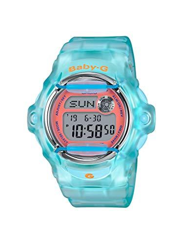 Casio BG169R-2C Baby-G Women's Watch Light Blue 42.6mm Resin (Watch Dial Baby G)