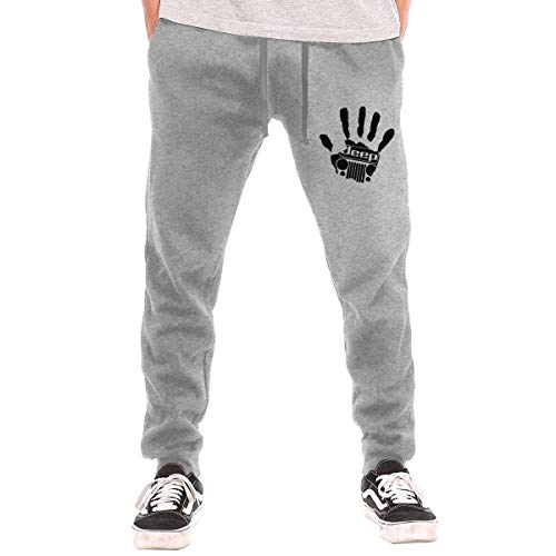 Men's Sweatpants Jeep-Willys Athletic Jogger Long Pants Gray
