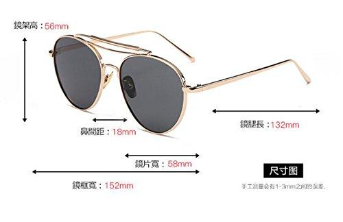 coreano de Estados Ojos Europa los la cuadrado de grandes gato LSHGYJ sol Unidos sol las sheet Gold de de GLSYJ gafas gafas frame green en Versión cajas moda sol y gafas nq4tXwO8xw