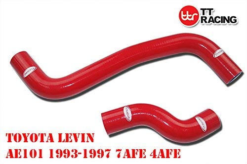 SILICONE RADIATOR HOSE KIT FOR TOYOTA COROLLA LEVIN AE101G/AE111 4A-GE 95-00 RED: