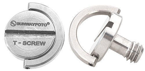 "2 X Sunwayfoto Stainless Steel 1/4"" D-Ring Screw TS-1 ideal"