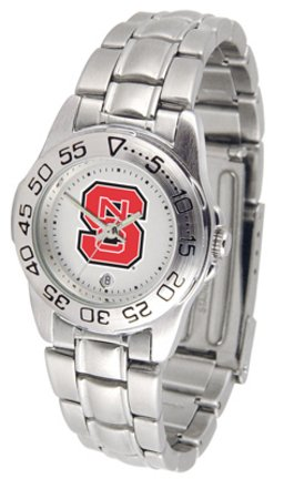 NCAA North Carolina State Wolfpack Ladies Gameday Sport Watch with Stainless Steel Band