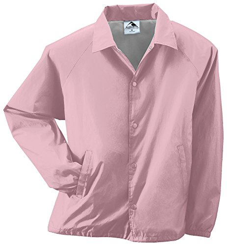 - Augusta Sportswear Unisex-Adult Nylon Coach's Jacket/Lined, Light Pink, Large