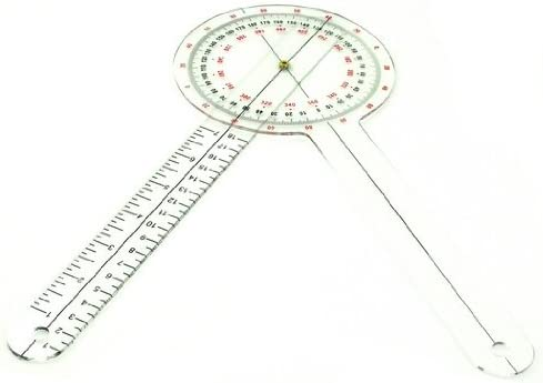 12 /& 8 PROTRACTOR GONIOMETER SET by AMS