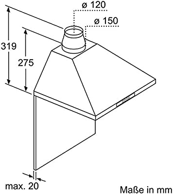 Bosch DWW06W650 - Campana extractora, color plateado: Amazon.es ...