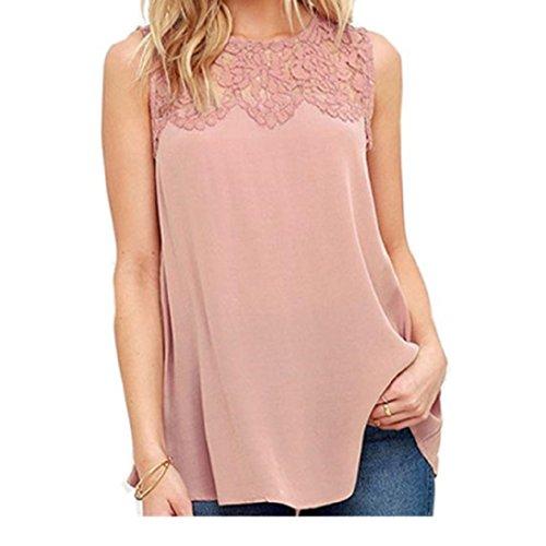 Blouses,Toraway Women Lace Chiffon Sleeveless Vest Tops Tank Shirts