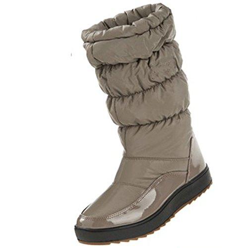 Boot Size Calf Warm Winter Shoe Gaorui Waterproof Women Snow Plush Outdoor Gray Plus Mid Fur 8xAqYwq07v