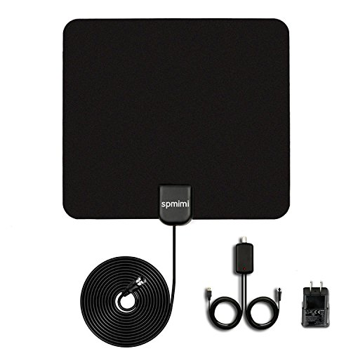 HDTV Indoor Antenna for High Reception Indoor Antenna 50 Miles Range with Detachable Amplifier Digital TV 10ft High Performance Coax Cable by spmimi