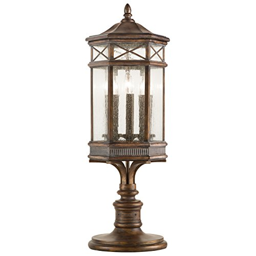 Fine Art Lamps Bronze Table Lamp (Fine Art Lamps 836980, Holland Park Outdoor Post Lighting, 60 Total Watts, Antique Bronze)