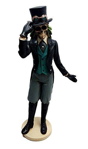 Ebros Day Of The Dead Gothic Steampunk Gentleman Skeleton Figurine Steampunk Detective Officer Skeleton Statue ()