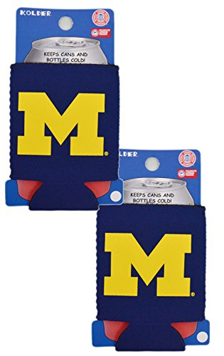 Official National Collegiate Athletic Association Fan Shop Authentic 2-Pack NCAA Insulated 12 Oz Can Cooler (Michigan Wolverines)