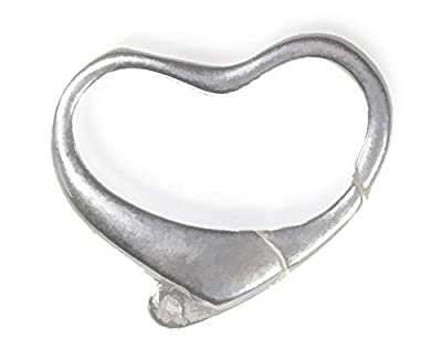 Sterling Silver Heart Trigger Clasp 11x15mm Large (1) from ugems