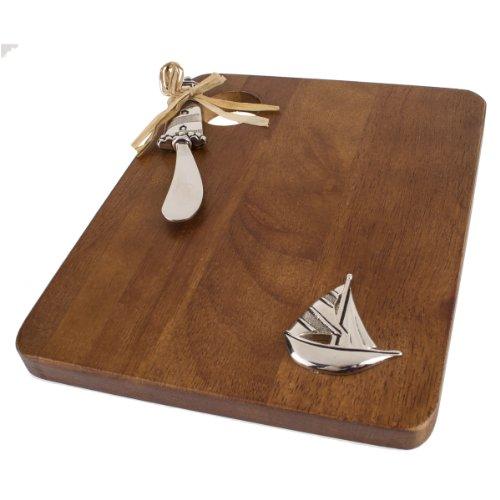 ThirstyStone Wood Serving Board/Spreader Set, Sailboat/Li...
