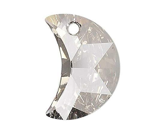 1 Swarovski Large 30Mm Silver Shade Crescent Moon Crystal Pendant (6722)