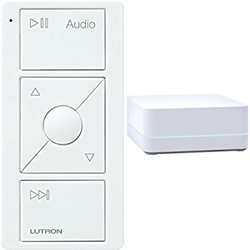 LUTRON Caseta Wireless Smart Bridge + Audio Pico Remote, Sonos Endorsed Integration, White