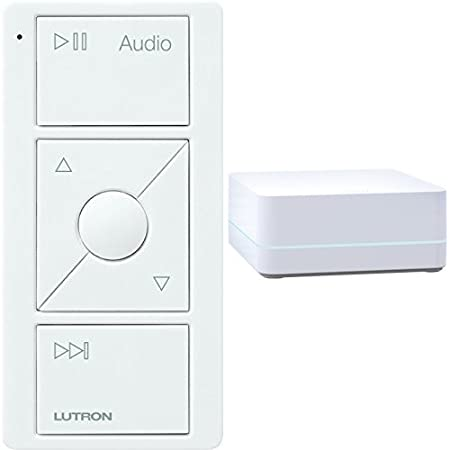 LUTRON Caseta Wireless Smart Bridge + Audio Pico Remote, Sonos Endorsed Integration, White - - Amazon.com