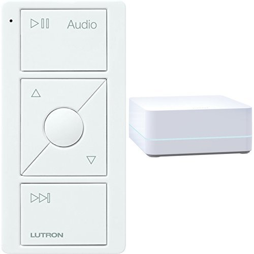 LUTRON Caseta Wireless Smart Bridge + Audio Pico Remote, Sonos Endorsed Integration, White (Audio Integration)