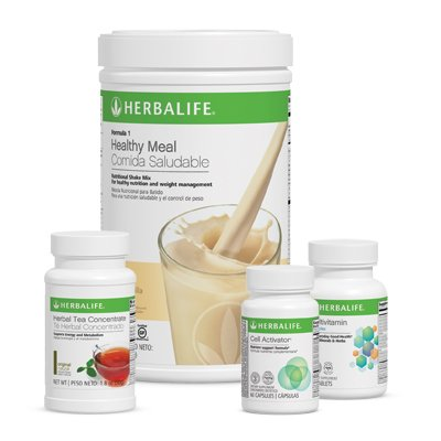 (HERBALIFE QUICK COMBO - FORMULA 1 SHAKE MIX (Vanilla), PERSONALIZED PROTEIN, HERBAL ALOE (Mango), HERBAL TEA CONCENTRATE (Raspberry))