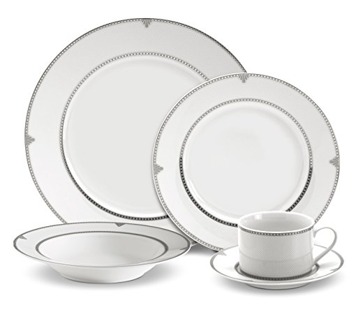 Mikasa Regent Bead 40-Piece Porcelain Dinnerware Set, Service for 8