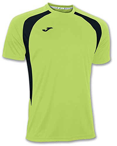 Joma - Camiseta Champion III Verde Fluor-Negro m/c para Hombre