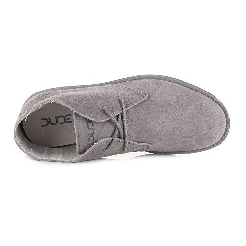 Dude Shoes ,  Herren Desert Boots Grey