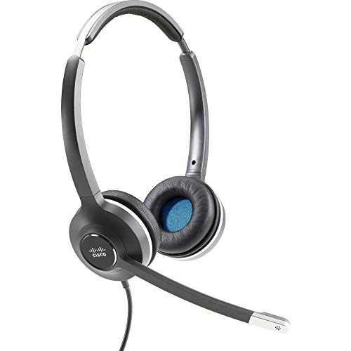 Cisco Headset 532 (Wired Dual with Quick Disconnect coiled RJ Headset Cable) - Stereo - Quick Disconnect - Wired - 90 Ohm - 50 H