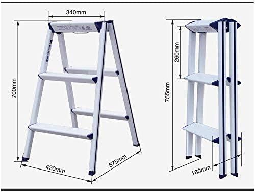 FJX Escalera plegable, cocina casera/Fotografía/Pintura/Trabajo al aire libre/Escalera pequeña plegable de aluminio Espesamiento Escalera de plataforma de plataforma de espiga multifunción,Un: Amazon.es: Bricolaje y herramientas