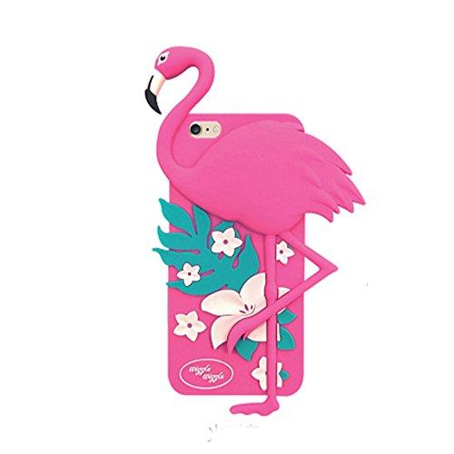 """Koala group*3d trendy vertikal Silikonhülle Körper Firebird / Sunflower / Softeis Schutzhülle Widerstand Sätze fallen Abdeckung hülle für iphone 6 plus /6s plus(5.5"""")-----Flamingos"""
