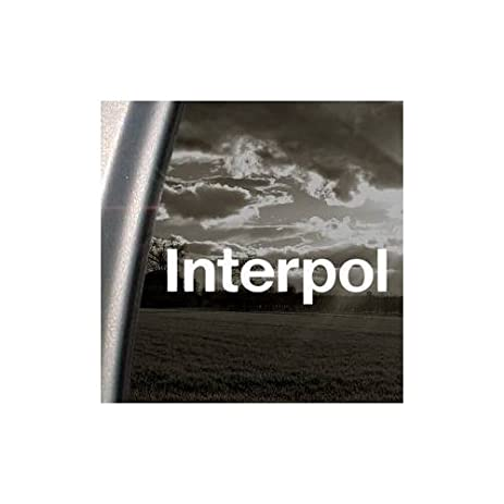 Interpol rock band white color decoration decor macbook art window car home decor auto notebook wall