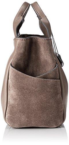 Talara Leather Taupe Grigio Clarks Donna Henkeltasche Wish 0fRqR8O