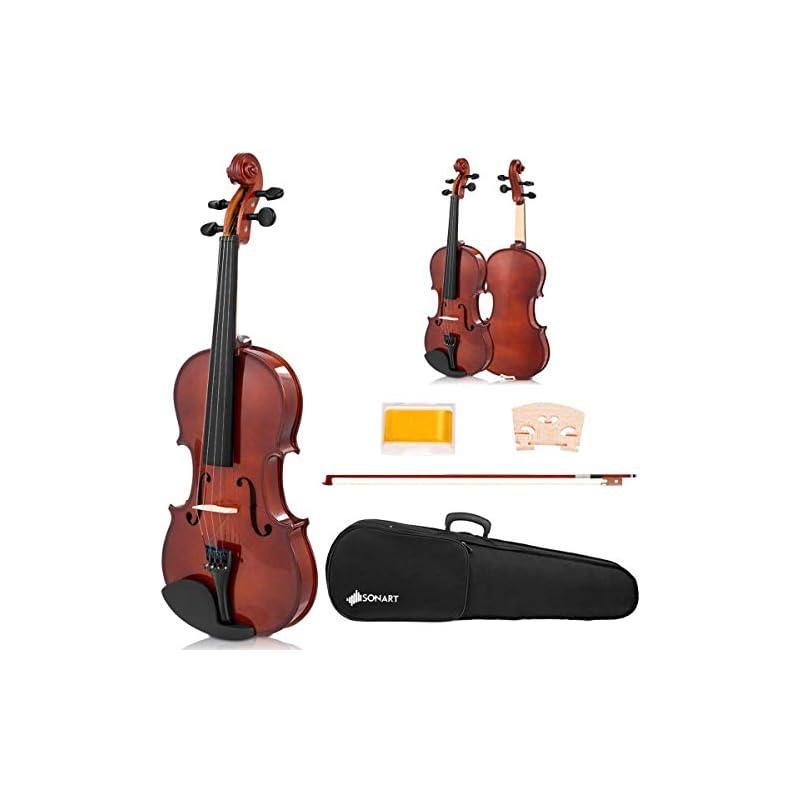 Sonart Full Size 4/4 Solid Wood Violin,