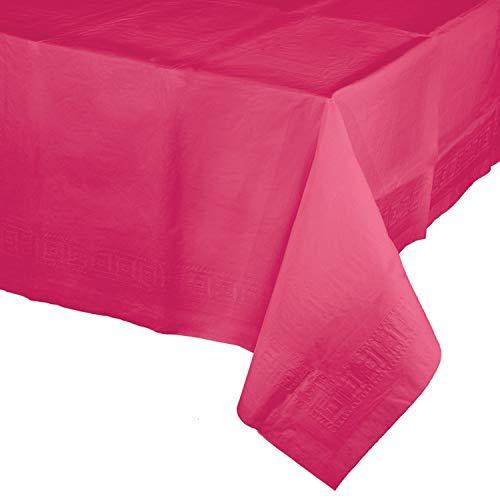 Hot Magenta Pink Paper Tablecloths, 3 ct ()