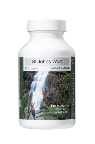 Millepertuis, calme Herbal, Supplément incroyable de santé naturels au Ginseng, Passion Flower, et les sels cellulaires homéopathiques 90 Capsules