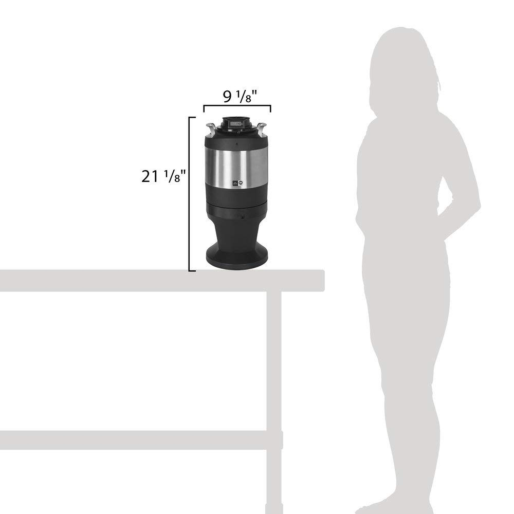 TableTop King TFTR1G Freshtrac 1 Gallon Coffee Dispenser with Rear-Facing Lid and Lockable Base by TableTop King (Image #2)