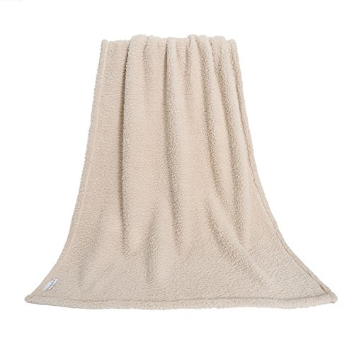furrybaby Premium Fluffy Fleece Dog Blanket, Soft and Warm Pet Throw for Dogs & Cats (Large 40x45'', Beige) by furrybaby