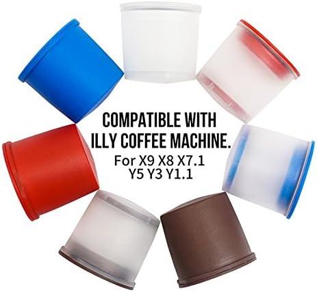 Amazon.com: Emousport - Juego de 4 tazas de cápsulas de café ...