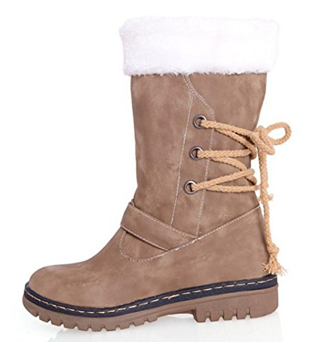 CYGG size large outdoor 43 khaki Ms 40 boots 42 snow 41 winter fashion strap shoes decoration rrqF4vw
