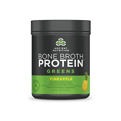 Ancient Nutrition Bone Broth Protein Powder, Pineapple Greens - 20 Servings
