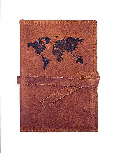 American Made Rustic Leather Travel Journal, Refillable 4.5