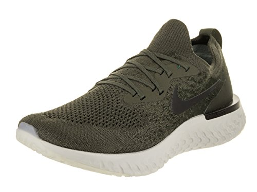 Nike Men Epic React Flyknit Running Shoe Cargo Khaki/Black Sequoia