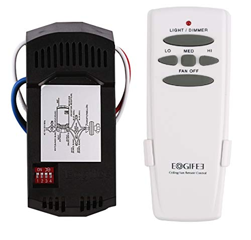 Eogifee Universal Ceiling Fan Remote Control and Receiver Kit Replacement of Hampton Bay Harbor Breeze Hunter HD5 ()