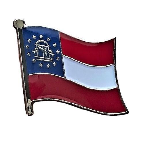 Backwoods Barnaby Georgia (GA) Flag Lapel Pin (Lapel Georgia Pin)