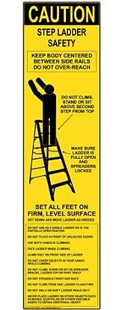 Compliancesigns Vinyl Ladder Scaffold Label 8 X 2 In